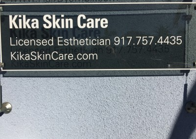 Kika Skin Care Sign